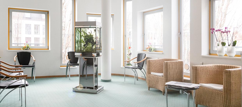 Wartezimmer, Augenarztpraxis Münchner Freiheit