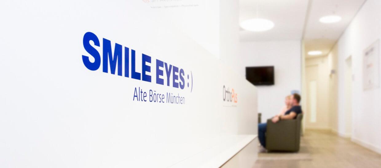 Praxiseingang Smile Eyes alte Börse