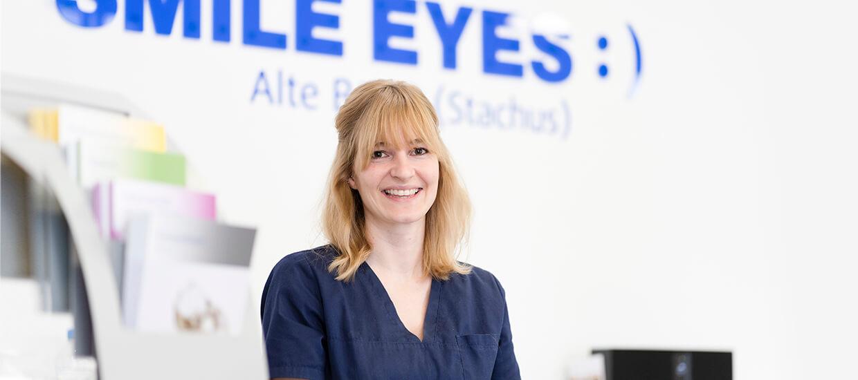 Smile Eyes alte Börse Praxisempfang