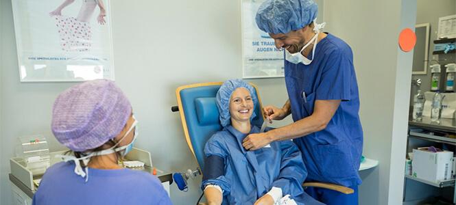 Vorbereitung kurz vor der Op Linsenimplantation
